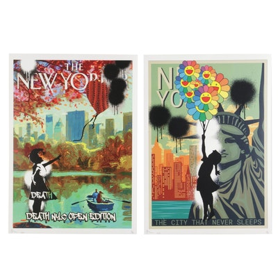 """Death NYC Pop Art Graphic Prints """"Balloon Girl"""" and """"OPXA10"""""""