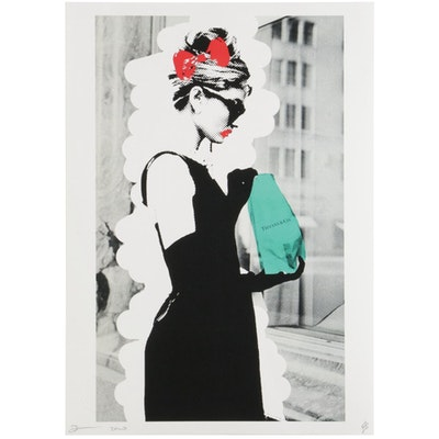 "Death NYC Pop Art Graphic Print ""Audrey Bagel,"" 2020"
