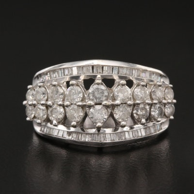 10K 1.30 CTW Diamond Tiered Ring