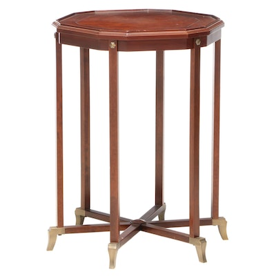 Bombay Company Mahogany and Brass Six-Leg End Table
