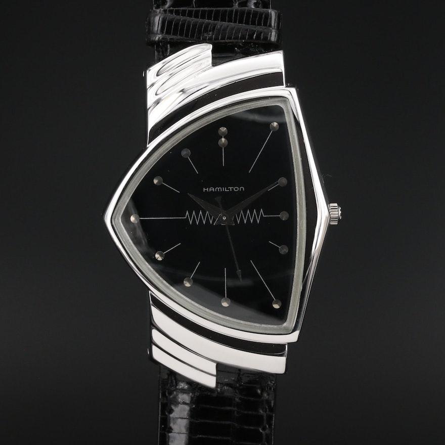 Hamilton Ventura Registered Edition Gold Plated Quartz Wristwatch