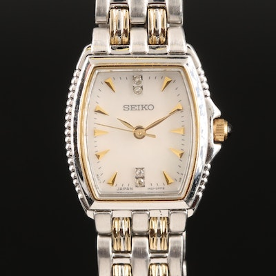 Seiko Mother of Pearl Diamond Dial Wristwatch