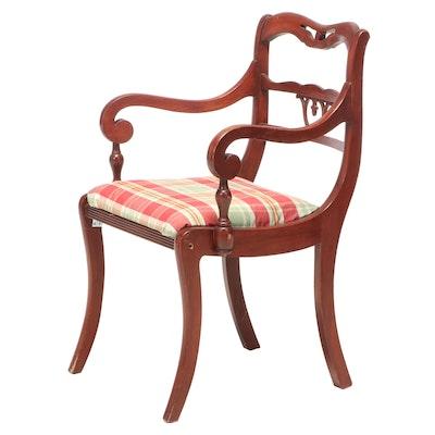 Regency Style Birch Armchair