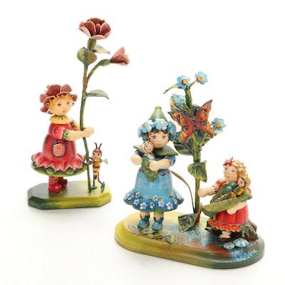 Kindertraum Käthe Wohlfahrt Painted Wooden Figurines