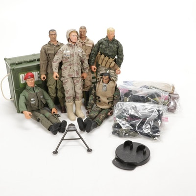 Hasbro G.I. Joe Action Figures, Accessories and Case, 1990s