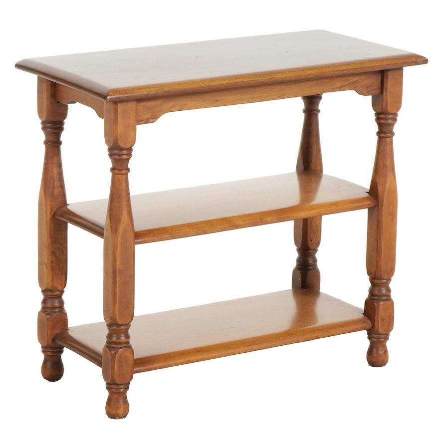 Hardwood Three-Tier Side Table