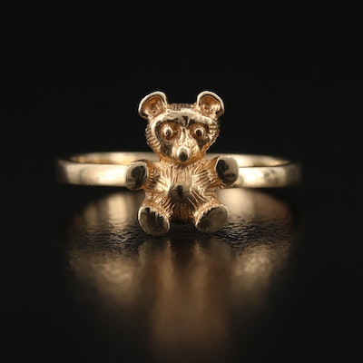 14K Teddy Bear Ring