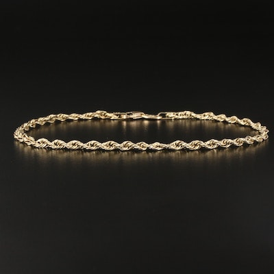 14K French Rope Chain Bracelet