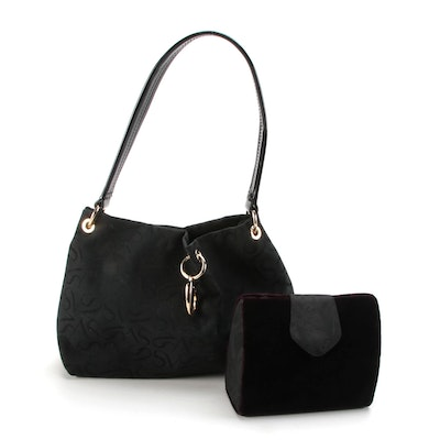 Simply Vera by Vera Wang Shoulder Bag and Neiman-Marcus Velvet Evening Bag