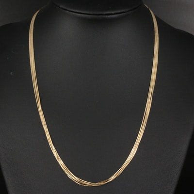 14K Multi-Strand Chain Necklace