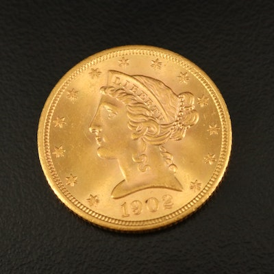 1902-S Liberty Head $5 Gold Half Eagle