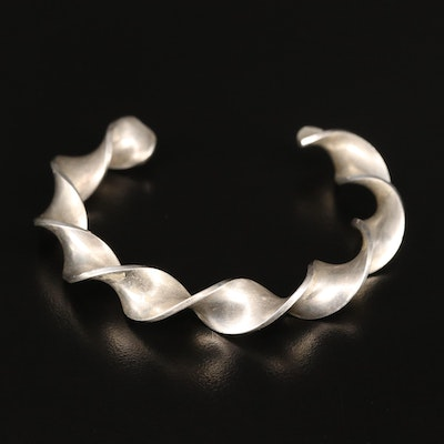 Signed Sterling Twisted Cuff