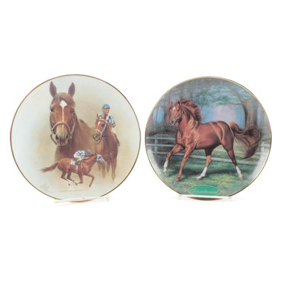 Limited Edition Secretariat Collector Plates by Danbury Mint, American Artists