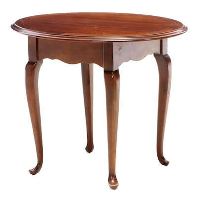 Lane Queen Anne Style Oval End Table