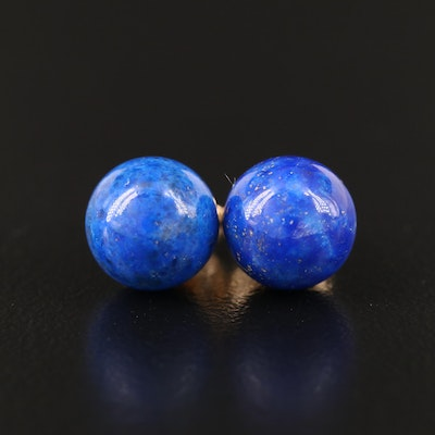 14K Lapis Lazuli Stud Earrings