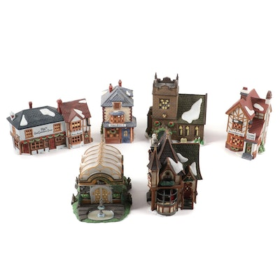 "Department 56 ""Dickens' Village Series"" Porcelain Village Accessories"