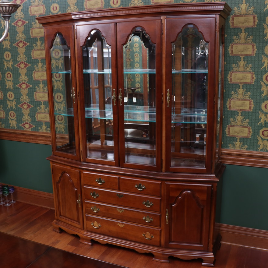 "Stanley ""American Craftsman"" Cherrywood China Cabinet"