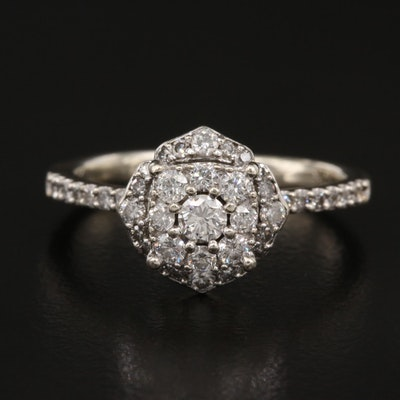 10K Diamond Arabesque Ring