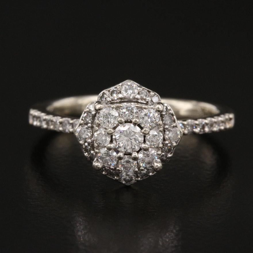 10K Diamond Arabesque Ring