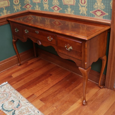 "Stanley ""American Craftsman Collection"" Queen Anne Style Cherrywood Buffet Table"