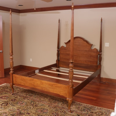 Queen Anne Style Four Poster Queen Size Bed Frame
