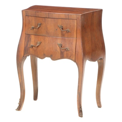 Italian Louis XV Style Olivewood Two-Drawer Commode