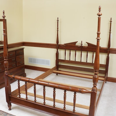 "Cherokee ""Country Squire"" Federal Style Cherry Four Poster Full Size Bed"