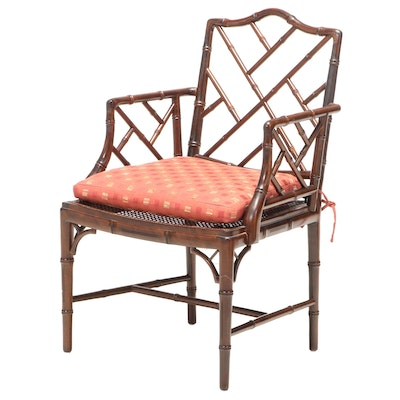 Chippendale Style Bamboo Fretwork Armchair