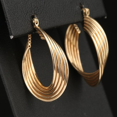 14K Twisted Hoop Earrings