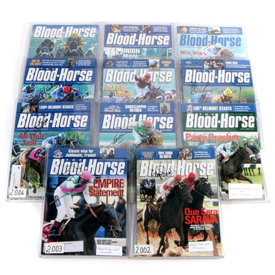 "Jockey Signed ""The Blood-Horse"" Magazine Belmonts Stakes Winner Editions"