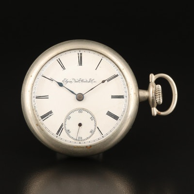 1889 Elgin Sidewinder Pocket Watch