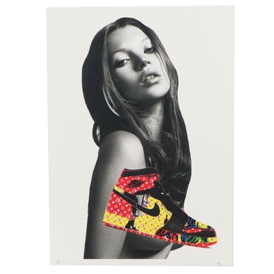 Death NYC Pop Art Graphic Print of Kate Moss, 2019