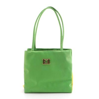 Escada Sunny Frutti Contrasting Nylon Shoulder Bag