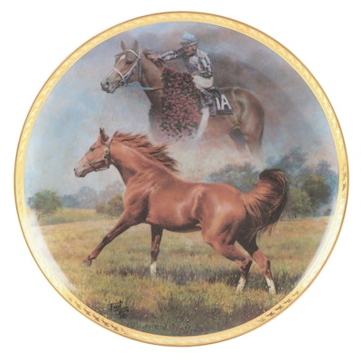 "American Artists Plate ""Secretariat - The Final Tribute"" with COA"