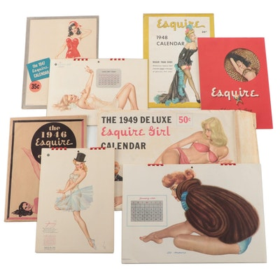 Varga Girls Pin Up Print Calendar For Esquire Magazine, 1940s