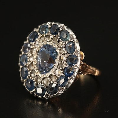 3.20 CT Unheated Ceylon Sapphire, Diamond and Sapphire Ring with GIA Report