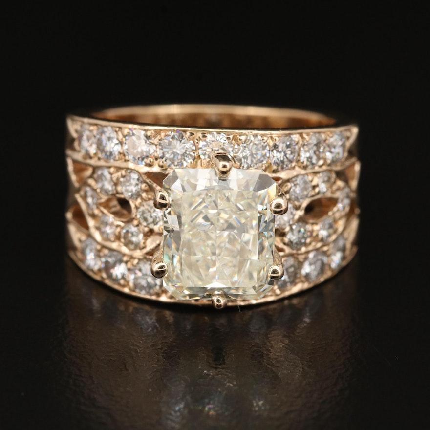 14K 4.78 CTW Diamond Ring
