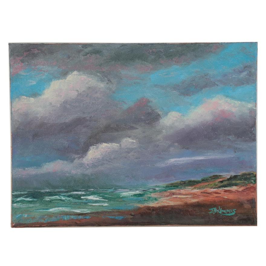 """James Baldoumas Oil Painting """"Ocean View,"""" 2021"""