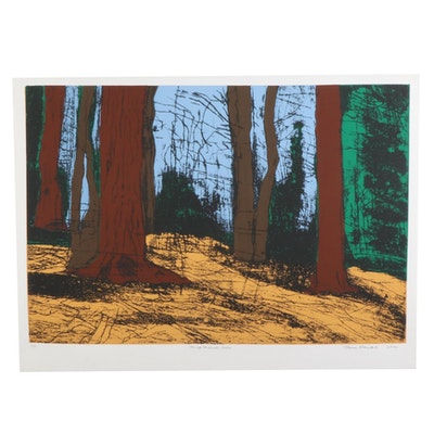 "Thomas Norulak Serigraph ""Through the Woods - Redux,"" 2012"