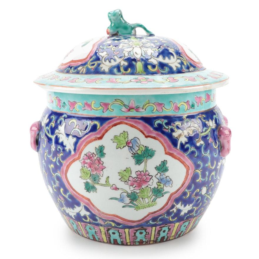 Chinese Enameled Porcelain Camcheng