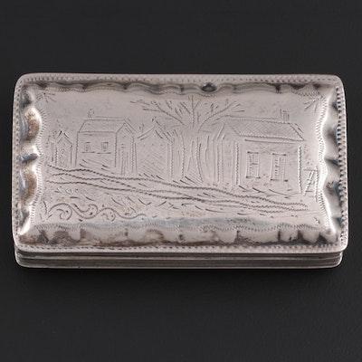 Dutch Chased 833 Silver Box,  19th Century