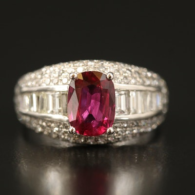 18K 1.36 CT Ruby and 1.30 CTW Diamond Ring