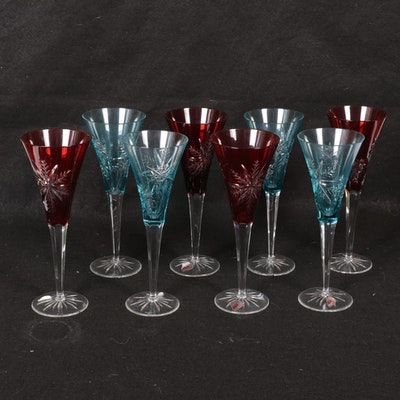 "Waterford ""Snowflake Wishes"" Crystal Champagne Flutes"