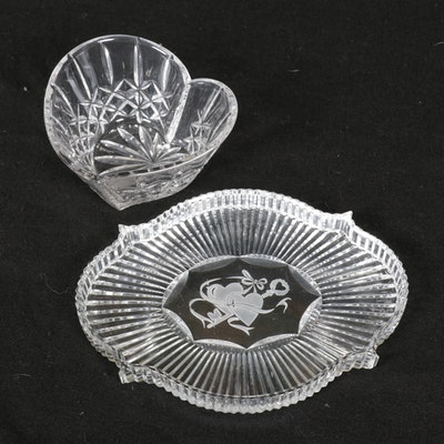 Jim Buckley and Sean O'Donnell Waterford Crystal Heart Bowl and Tray