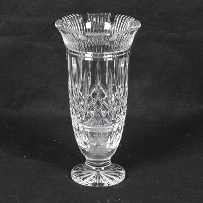 "Waterford Crystal ""Lismore Castle"" Footed Vase"