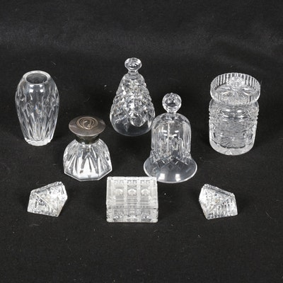 "Waterford ""Lyndon"" Inkwell and Other Crystal Table Accessories"