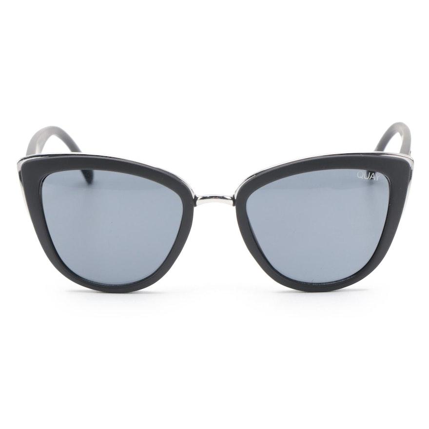 "Quay ""My Girl"" Modified Cat Eye Sunglasses in Matte Black"
