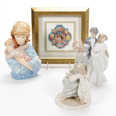 "Lladró ""Wedding Bells"", Kaiser ""Maria and Child"" Figurine and Other Décor"