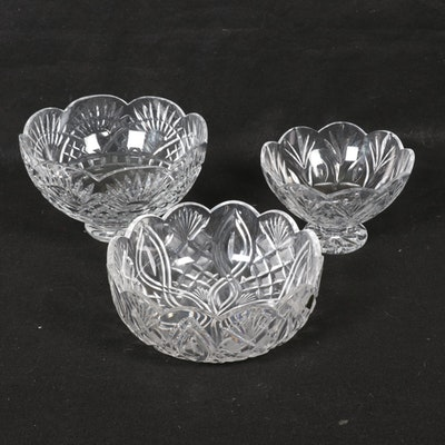 Waterford Crystal and Marquis by Waterford Bowls, Late 20th Century