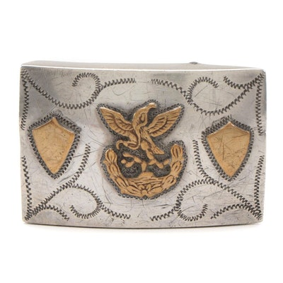 Mexican Coat of Arms Sterling Silver Belt Buckle